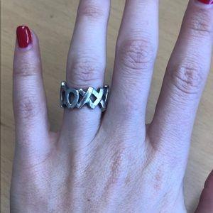 Tiffany & Co. xoxo ring tarnishing shown in pics
